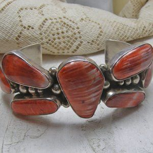 Chimney Butte Spiny Oyster Dragonfly Cuff Sterling